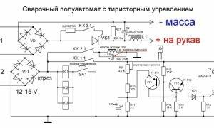 Пусковая схема сварочного полуавтомата